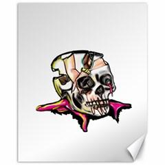 Skull Canvas 11  X 14   by azureprinceinc