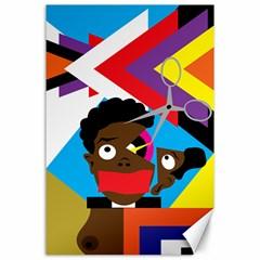 Scissors To My Mind Canvas 24  X 36  by azureprinceinc