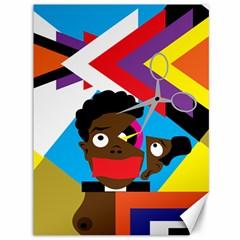 Scissors To My Mind Canvas 36  X 48   by azureprinceinc