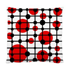 Red Circles Standard Cushion Case (two Sides) by Valentinaart