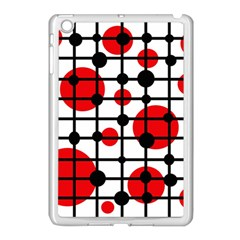 Red Circles Apple Ipad Mini Case (white) by Valentinaart