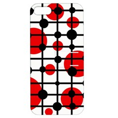 Red Circles Apple Iphone 5 Hardshell Case With Stand by Valentinaart
