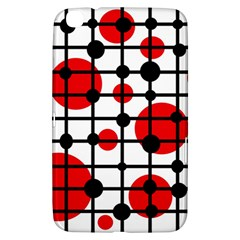 Red Circles Samsung Galaxy Tab 3 (8 ) T3100 Hardshell Case  by Valentinaart