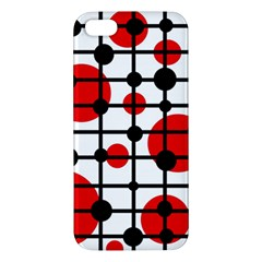 Red Circles Iphone 5s/ Se Premium Hardshell Case by Valentinaart