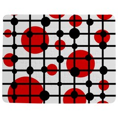 Red circles Jigsaw Puzzle Photo Stand (Rectangular) by Valentinaart