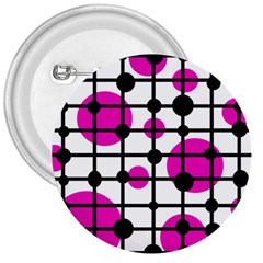 Magenta circles 3  Buttons by Valentinaart