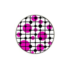 Magenta Circles Hat Clip Ball Marker (4 Pack) by Valentinaart