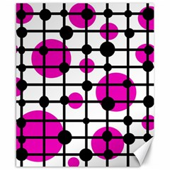 Magenta Circles Canvas 8  X 10  by Valentinaart