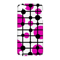 Magenta circles Apple iPod Touch 5 Hardshell Case by Valentinaart