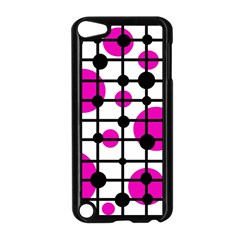 Magenta Circles Apple Ipod Touch 5 Case (black) by Valentinaart