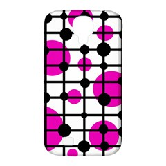 Magenta Circles Samsung Galaxy S4 Classic Hardshell Case (pc+silicone) by Valentinaart