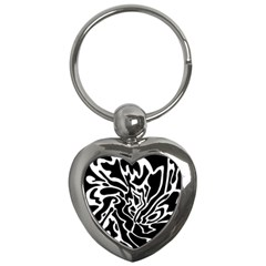 Black And White Decor Key Chains (heart)  by Valentinaart