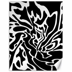 Black And White Decor Canvas 18  X 24   by Valentinaart