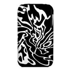 Black And White Decor Apple Iphone 3g/3gs Hardshell Case (pc+silicone) by Valentinaart