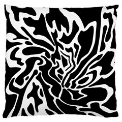 Black And White Decor Large Flano Cushion Case (one Side) by Valentinaart