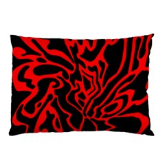 Red And Black Decor Pillow Case (two Sides) by Valentinaart