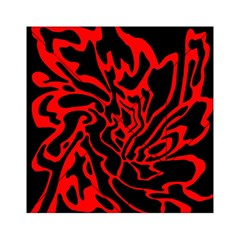 Red and black decor Acrylic Tangram Puzzle (6  x 6 ) by Valentinaart