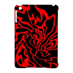 Red And Black Decor Apple Ipad Mini Hardshell Case (compatible With Smart Cover) by Valentinaart