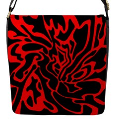 Red And Black Decor Flap Messenger Bag (s) by Valentinaart
