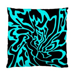Cyan Decor Standard Cushion Case (one Side) by Valentinaart
