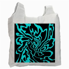 Cyan Decor Recycle Bag (one Side) by Valentinaart