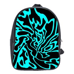 Cyan Decor School Bags(large)  by Valentinaart