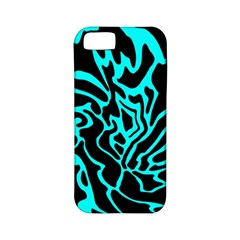 Cyan Decor Apple Iphone 5 Classic Hardshell Case (pc+silicone) by Valentinaart