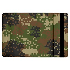 Pixel Woodland Camo Pattern iPad Air Flip by artpics