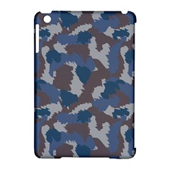 Blue And Grey Camo Pattern Apple iPad Mini Hardshell Case (Compatible with Smart Cover) by artpics