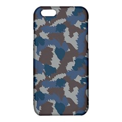 Blue And Grey Camo Pattern iPhone 6/6S TPU Case by artpics