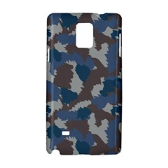 Blue And Grey Camo Pattern Samsung Galaxy Note 4 Hardshell Case