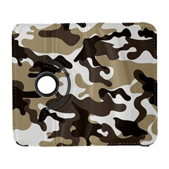 Urban White And Brown Camo Pattern Samsung Galaxy S  III Flip 360 Case by artpics