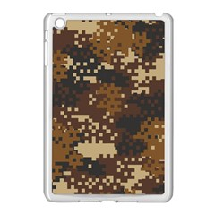 Pixel Brown Camo Pattern Apple iPad Mini Case (White) by artpics
