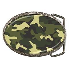 Green Camo Pattern Belt Buckles