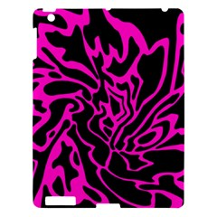 Magenta And Black Apple Ipad 3/4 Hardshell Case by Valentinaart