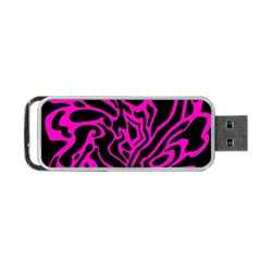 Magenta And Black Portable Usb Flash (two Sides) by Valentinaart