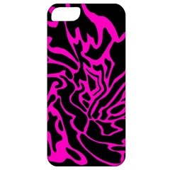 Magenta And Black Apple Iphone 5 Classic Hardshell Case by Valentinaart