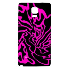Magenta And Black Galaxy Note 4 Back Case by Valentinaart