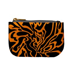 Orange And Black Mini Coin Purses by Valentinaart