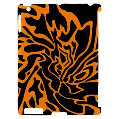 Orange and black Apple iPad 2 Hardshell Case (Compatible with Smart Cover) by Valentinaart