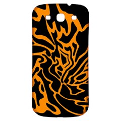 Orange And Black Samsung Galaxy S3 S Iii Classic Hardshell Back Case by Valentinaart