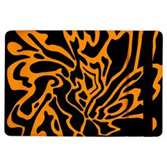 Orange And Black Ipad Air Flip by Valentinaart