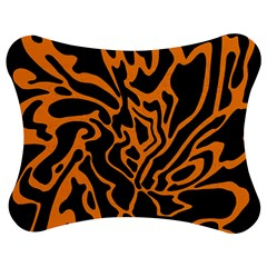 Orange And Black Jigsaw Puzzle Photo Stand (bow) by Valentinaart