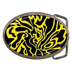 Black and yellow Belt Buckles by Valentinaart