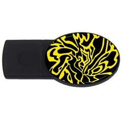Black And Yellow Usb Flash Drive Oval (2 Gb)  by Valentinaart