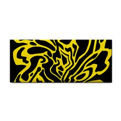 Black and yellow Hand Towel by Valentinaart