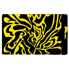 Black And Yellow Apple Ipad 2 Flip Case by Valentinaart