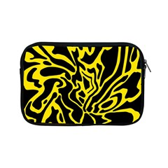 Black And Yellow Apple Ipad Mini Zipper Cases by Valentinaart