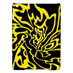 Black And Yellow Ipad Air Hardshell Cases by Valentinaart