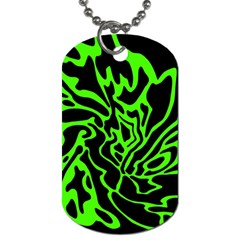 Green And Black Dog Tag (two Sides) by Valentinaart